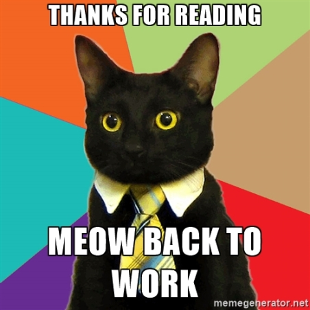 Thanks for Reading cat